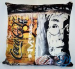 Cuscino-Omaggio a John Lennon/Cushion-Tribute to John Lennon